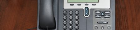 This is an image of an IP telephone