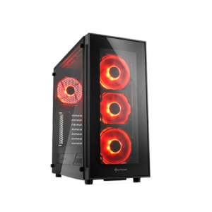Red Sharkoon TG5 PC Case Image