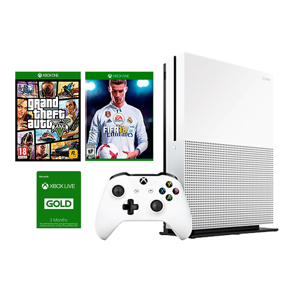 Xbox One S 1TB Console 3 Pack Bundle (GP37143) - Bright Networks